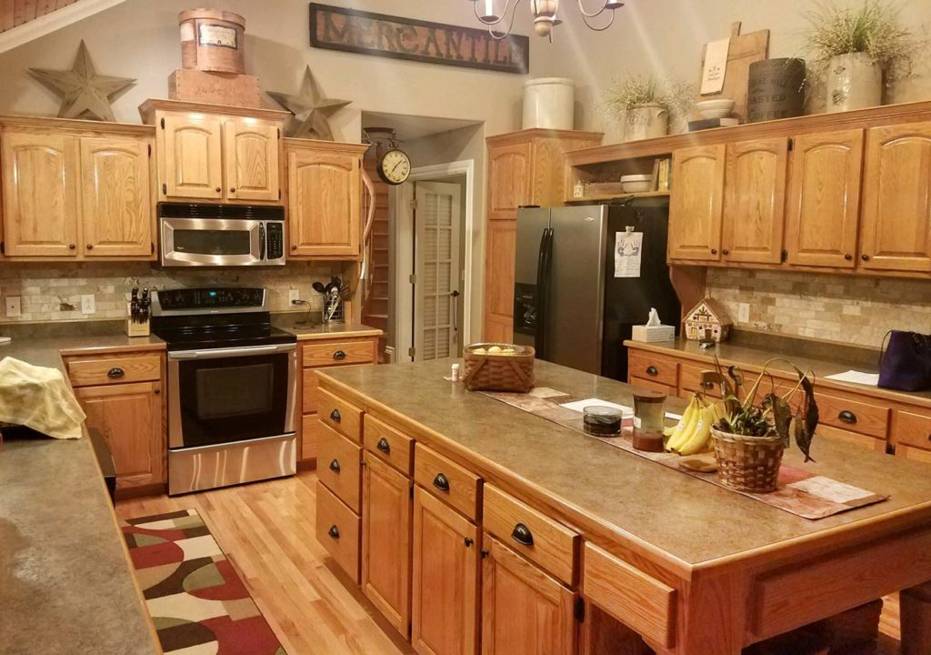Finished Kitchen Cabinets