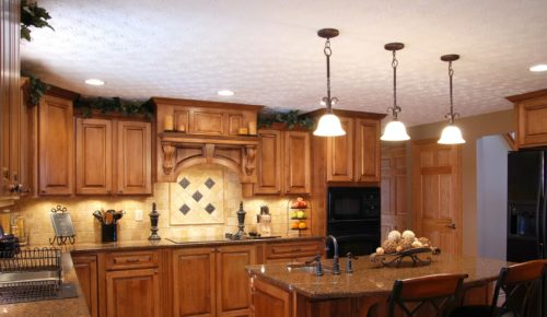 Cabinet Refinishing Center Dark Cabinets