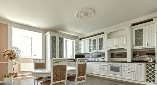 Cabinet Refinishing Center White